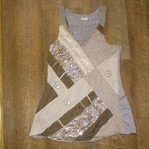 Gray Anthropologie top